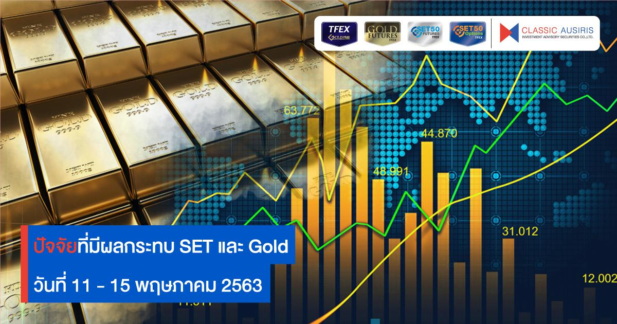 ปัจจัยที่มีผลกระทบ SET และ Gold สัปดาห์นี้(11 – 15 พ.ค. 2563)