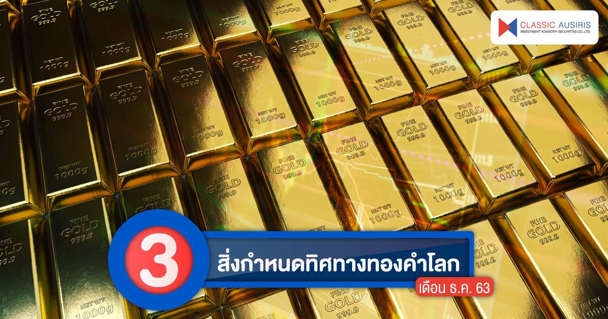 3 สิ่งกำหนดทิศทางทองคำโลกเดือน ธ.ค. 63